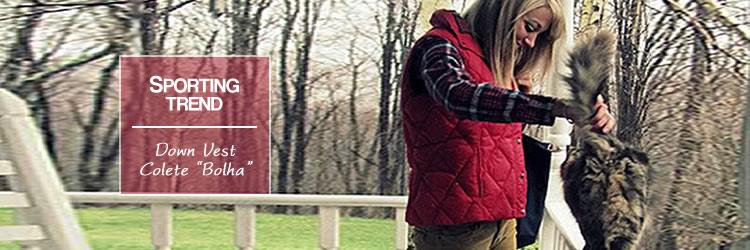 Moda Esportiva  Down Vest   Colete