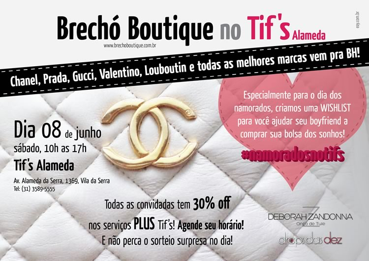 Brechó Boutique no Tif's!