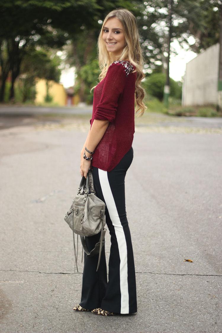 2a337868f9 look-da-onca-tricot-burgundy-pedrarias-etc-store-calca-preta-listra ...
