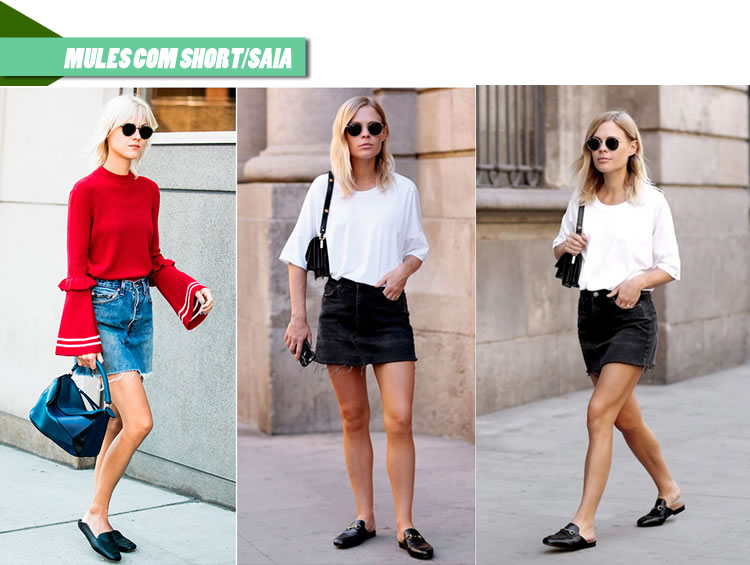 como-usar-tendencia-sapato-mule-com-short-saia