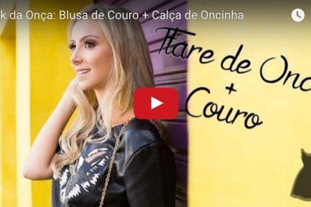 Look da Onça: Blusa de Couro + Calça de Oncinha